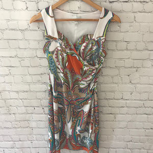 Donna Morgan Paisley Print Sleeveless Dress